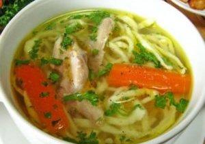 куриный суп с похмелья