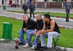 распитие в общественных местах