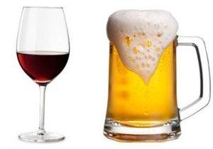 что менее вредно пиво или вино